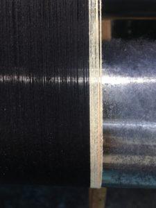 DB(denim-base)デニムを織っている時の写真